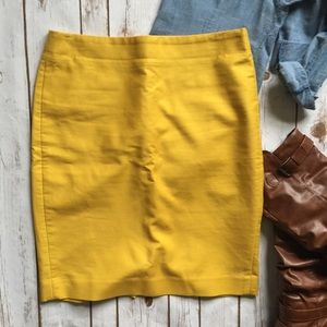 Yellow JCrew Pencil Skirt
